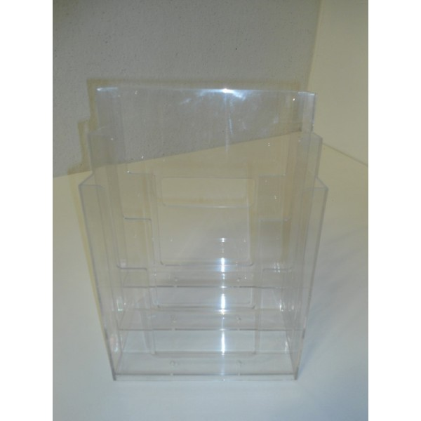 Porta depliant da banco formato a4 in plastica trasparente - Porta volantini ...