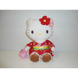 PELUCHE HELLO KITTY SANRIO ORIGINALE - 28 cm -