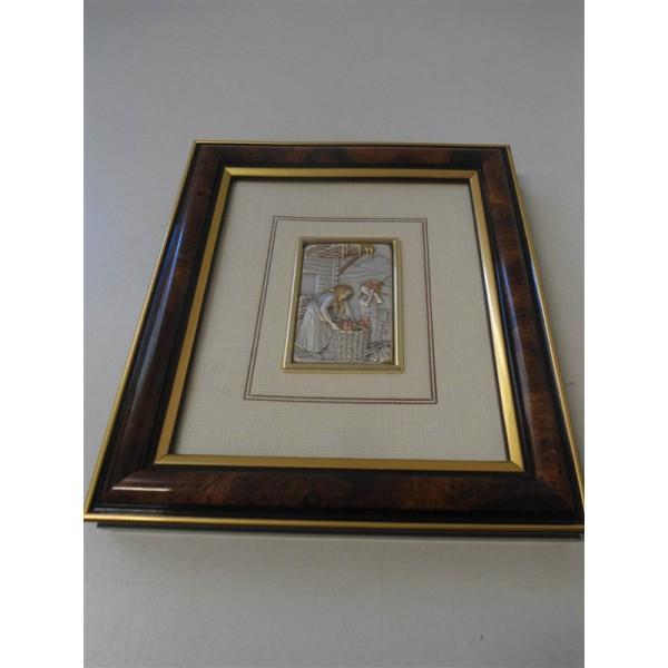 Quadro mida studio piastra in argento collezione recanati for Quadri in argento