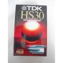 VIDEOCASSETTA TDK HS30 VHSC NUOVA SIGILLATA