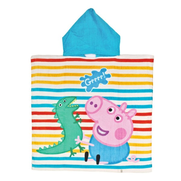 Poncho da spiaggia piscina peppa pig george asciugamano for Peppa pig piscina