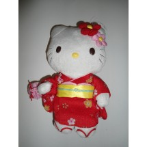 PELUCHE HELLO KITTY SANRIO ORIGINALE - 21 cm -