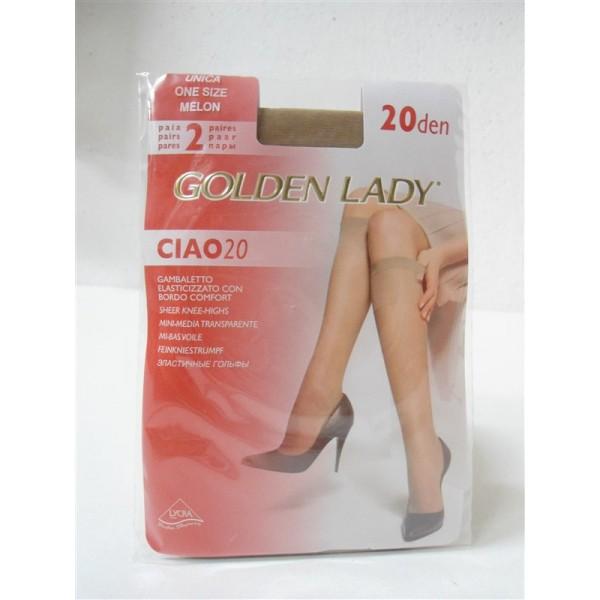 new concept dcc21 faa3e GAMBALETTO 2 PAIA GOLDEN LADY CALZE CIAO 20 DEN ONE SIZE MELON - Tutto per  il Pulito