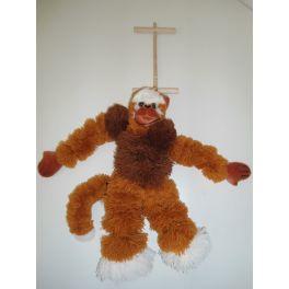 Peluche Marionetta Scimmietta in lana 35 cm