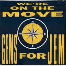 GEMS FOR JEM - WE'RE ON THE MOVE - 1991 DISCO VINILE 33 GIRI