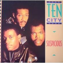 TEN CITY- SUSPICIOUS - 1989 DISCO VINILE 33 GIRI