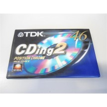 AUDIO CASSETTA TDK CDING2 46 TYPE II NUOVE SIGILLATE