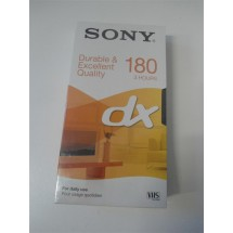 VIDEO CASSETTA VHS SONY DX 180 NUOVE SIGILLATE