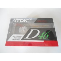 3 PEZZI AUDIO CASSETTA TDK D46 TYPE I NORMAL POSITION NUOVE SIGILLATE