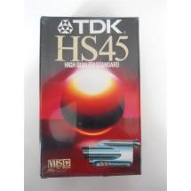 VIDEOCASSETTA TDK HS45 HIGH QUALITY STANDARD NUOVA SIGILLATA