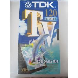 VIDEO CASSETTA VHS TDK TV 120 NUOVA SIGILLATA