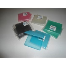 STOCK N.10 PORTA FLOPPY DISC 1 POSTO NIJI PLASTICA COLORATI