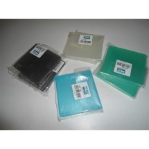 STOCK N. 7 PORTA FLOPPY DISC 1 POSTO NIJI PLASTICA COLORATI